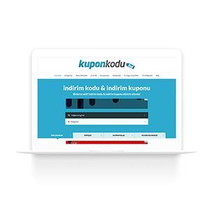 KuponKoduBul.com internet sitesi tasarım ve kodlama çalışması.