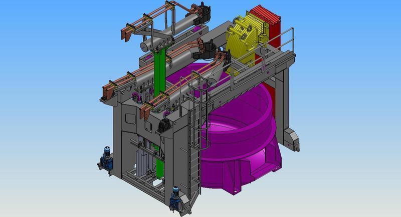 progettazione portale forno SBM-IRFI s.p.a.