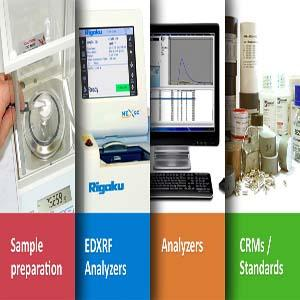 Equipment for Sample Preparation, EDXRF Analyzers, Analyzers, CRMs, Standards, Furnaces and muffles, ICP, Consumables and spare parts, Fluxes, Platinum instrumental, Laboratory accesories.