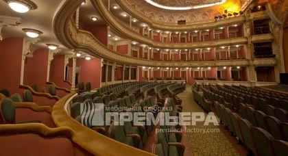 Поставка театральных кресел для зрительного зала театра им. И. Франко в Киеве.