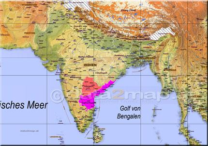 Freely editable Map of India including the border lines of Federal States infrastructural and topographic information. For professional customers using Adobe Illustrator for unrestricted customization