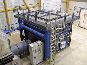 Fire testing furnace - combi