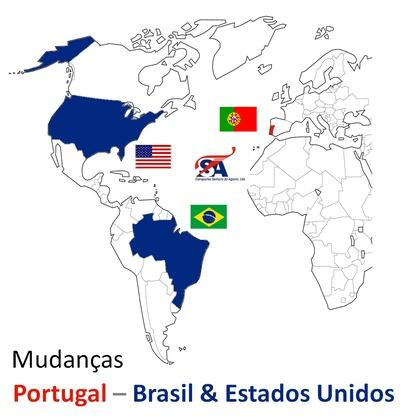 Internacional moving company, agents in USA and Brasil.