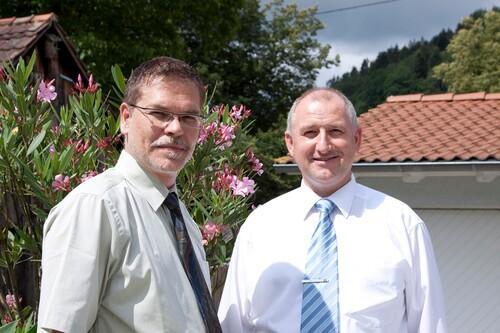 Geschäftsführer H. Renz und M. Wahl