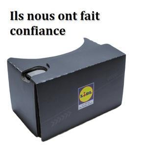 Nous avons réalisé une vidéo 360° que Lidl a présenté lors d'une soirée d'inauguration pour son tout nouveau magasin concept en France. Cette vidéo était accessible grâce aux Cardboards.