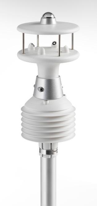 Multi Sensore per esterni per misure di Temperatura, Umidità, Barometro, Radiazione Soare, Velocità del vento e Direzione del vento. Anche nella versione riscaldata.Uscite analogiche e digitali