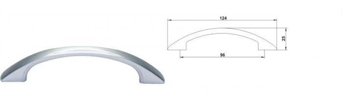 1) Type: furniture plastic handle, 2) Material: plastic 3)Colour: chrome matt, nickel matt, ral; 4)Samples upon request;
