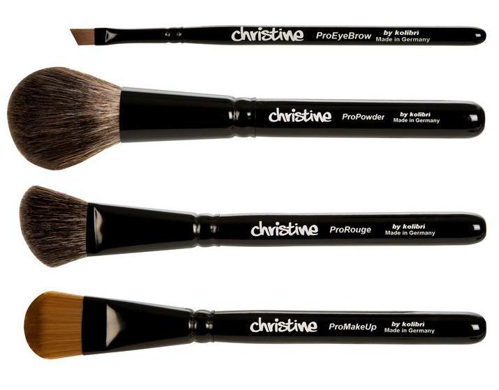"""With specialist support and advise of """"Cristine"""" Center for skin therapy we manufactrue our new cosmetic brush line. The series includes 12 high-end cosmetic brushes- Handmade in Germany"""