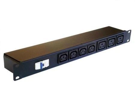 "PDU 19""-1U-32A 230V- IEC 13, C19 protection circuit breack"