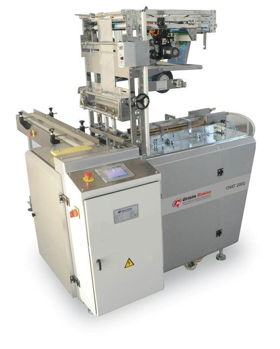 OWET 2000 OVERWRAPPING ENVELOPE-TYPE BOX PACKAGING MACHINE