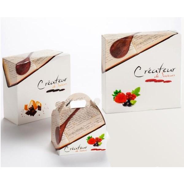 La gamme des boites pâtissieres créateur. est une gamme d'emballages de qualité au meilleur prix