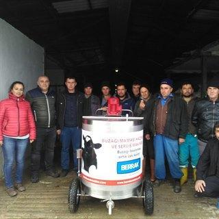 Milk pasteurizer for calves