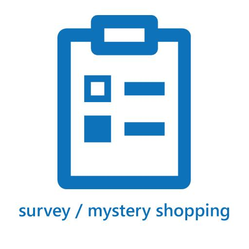 survey / mystery shopping