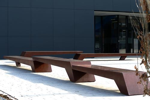 Concrete city benches
