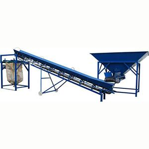 This is a semi-automatic hopper bagging machine with tape supply conveyor with precision balance for multiple products.