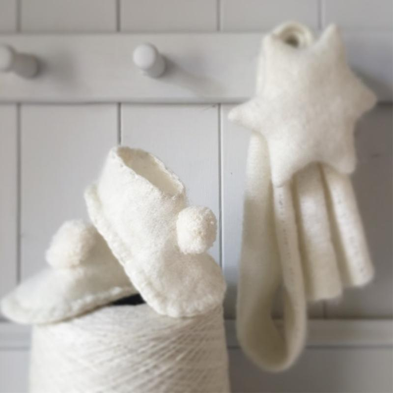 Beautiful Cashmere slippers and scarf,