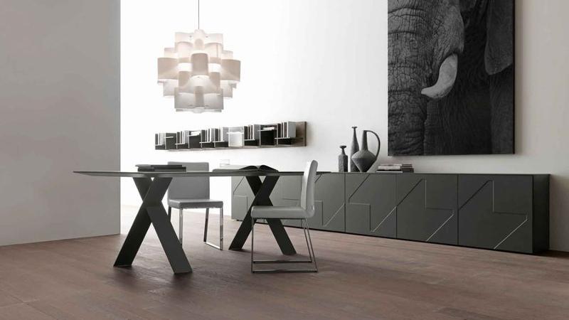 Table de repas rectangulaire design de Presotto