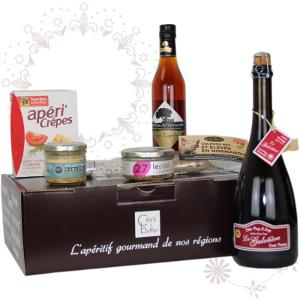 Example of our gift box for gourmet with French local products from Normandy and Brittany