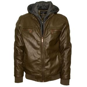 men's faux leather jacket by Van Hipster