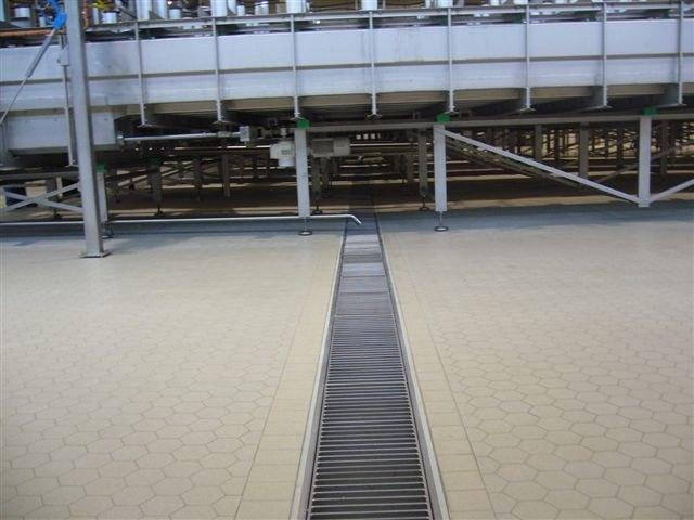 Industrial ceramic floors for the food and pharma industry