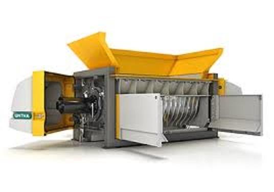 El triturador Untha XR  es un pre-triturador de bajas revoluciones, que ha sido diseñado para la pre-trituración o trituración intermedia de residuos sólidos urbanos en bruto (RSU), residuos voluminos