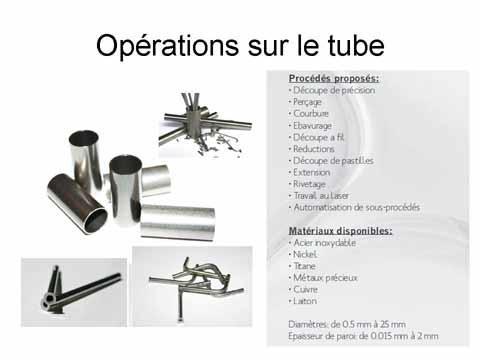 Opérations sur le tube