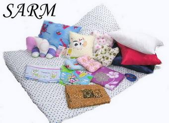 The products SARM SA Sewing of linen, quilts and pillows silicone.