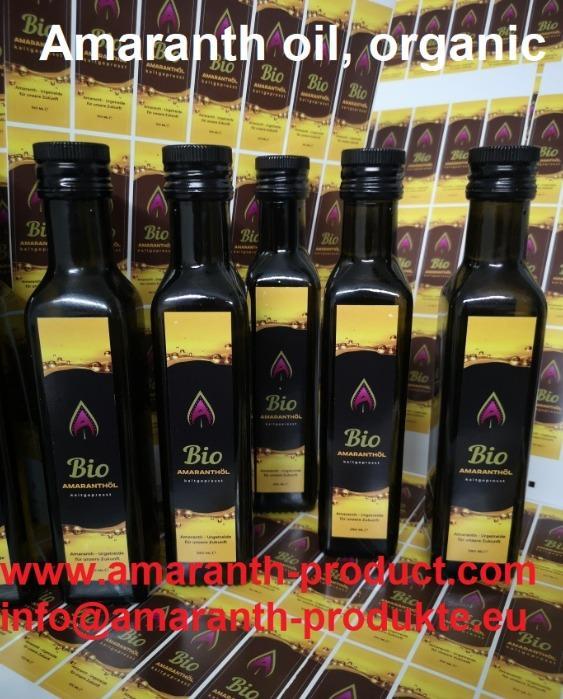 Amaranth oil, organic