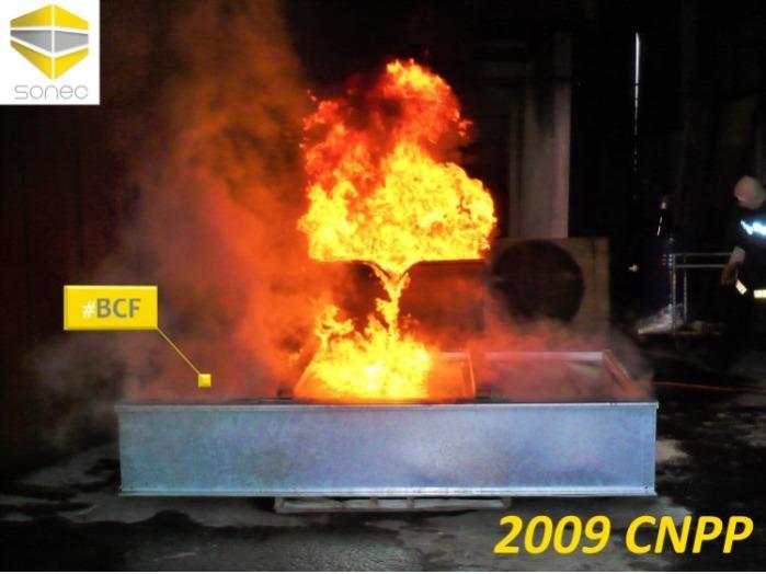 2009 BCF bac de rétention anti feu pour transformateur électrique SONEC testé