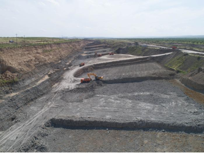 Bentonite Deposit - quarry in the Republic of Khakassia
