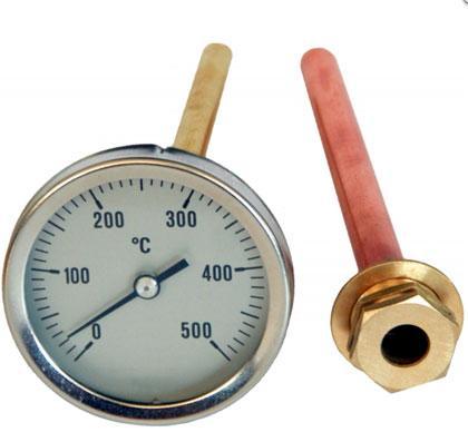 Thermomètre avec une lecture de 0 à 500°c