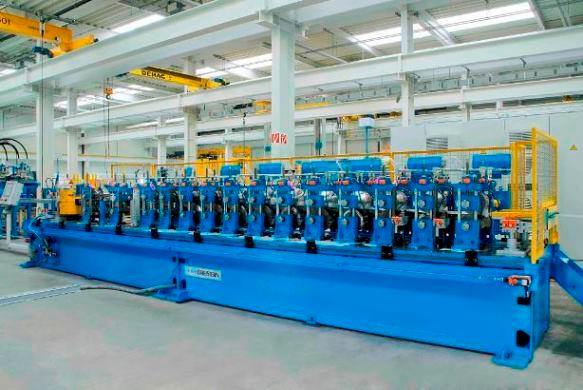 P3 roll forming machine for intermediate to heavy profiles.