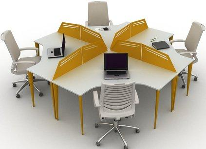 Modular Workstation and partition for many people