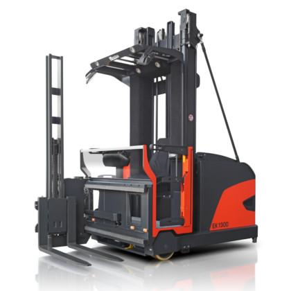 Magaziner EK-Series Very Narrow Aisle Turret Trucks up to more than 17 m lift height and maximum capacity of 2000 kg