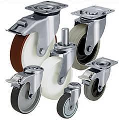Inox Casters Rodízios Inoxidáveis. Comercializamos mais de 30.000 Rodas e Rodízios standard, com capacidades de carga desde 15kg até 50Ton (por roda!)
