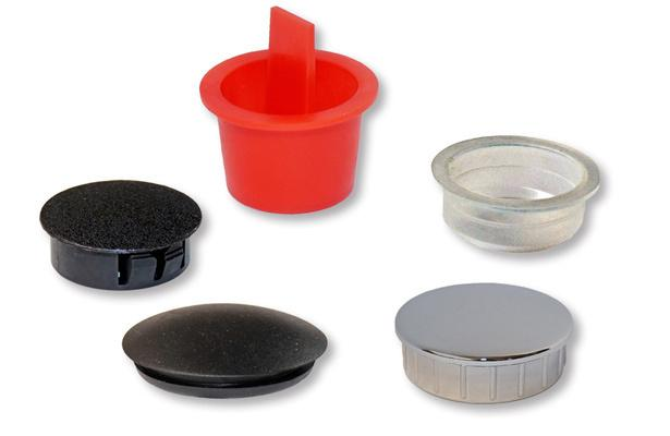 Sottotappi cilindrici, Tappi di plastica, Sottotappi conici, Tappi in PVC per fori, Tappi in nylon per fori - Parallel protection plugs, Plastic plugs, Tapered protction plugs, Blanking plugs