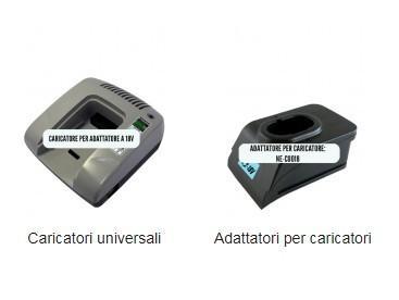 Caricatori universali Ingrosso adattatori per caricatori universali per batterie di trapani e avvitatori compatibili Adattatori per caricatori