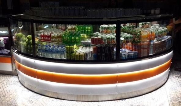 -ENTEK Refrigeration-                                         - Newly designed refrigerated beverage case - LED shelf light - can be  combined with pastry case and heated Bakery/Deli counters.