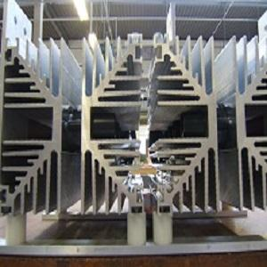 Standard Extrusion Aluminium Heat Sink, custom CNC machined to specialist design.
