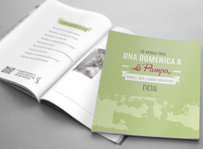 ideazione, progettazione e realizzazione dell'identità visiva per La Pampa, un'esclusiva tenuta nel cuore del Sannio, all'impronta della natura degli animali e del buon cibo.