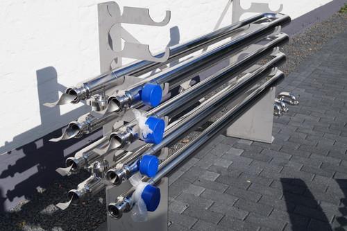 Doppelrohr WT mit Spiraleinbauten