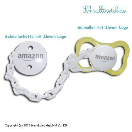 Schnuller + Schnullerkette mit Logo