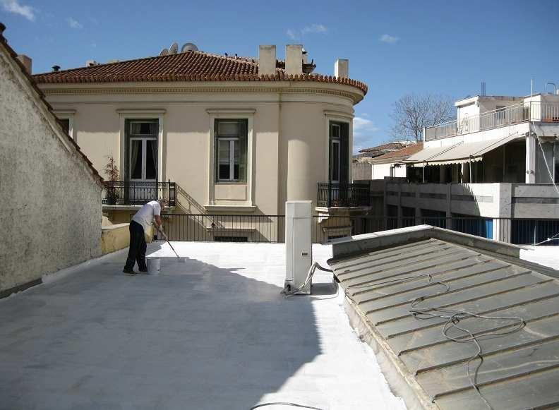 waterproofing membrane on a number of constructions such as rooftops, balconies, polyurethane foam insulation, bridges, flowerbeds, water tanks, bituminous and EPDM membranes