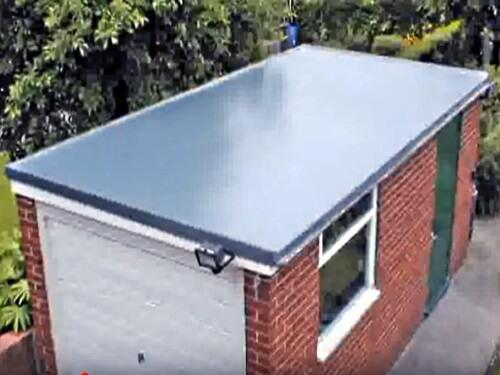 rubber roofing on garage in north east
