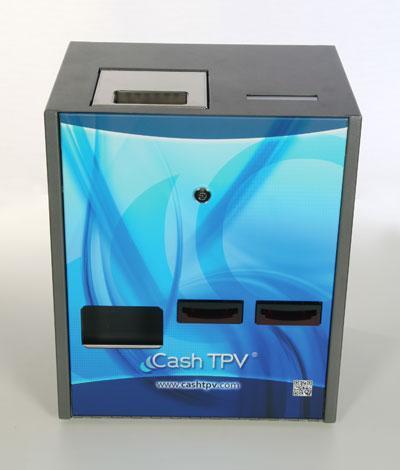 CashTPV es uno de los cajones inteligentes más rápidos del mercado, dotado con dos entradas de billetes acelera los procesos de cobro y cambio en su negocio. Con CashTPV su recaudación siempre cuadra.