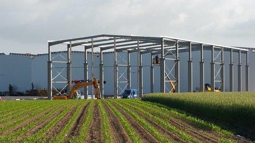 Errichtung Industriestahlhalle