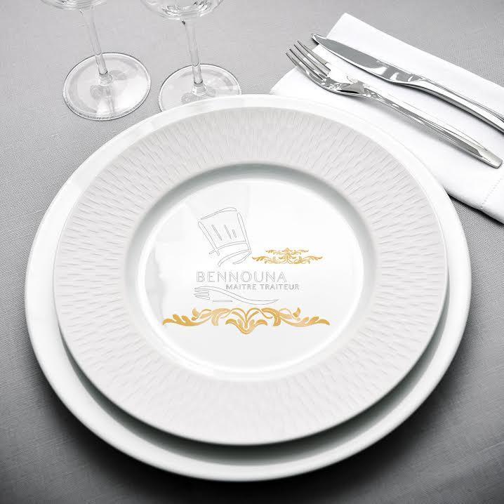 Assiette personnalisee pour Traiteur Bennouna