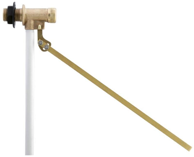 Galleggiante in ottone lucido                             Polished brass float valve