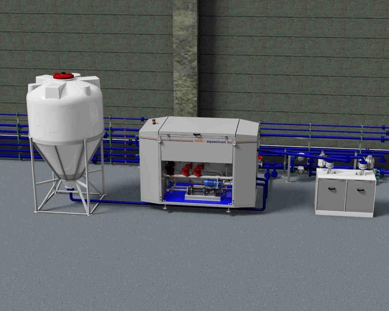 Stabile Emulsionen werden mit der OKO-aquaclean Emulsionsspaltanlage durch moderne und hochwirksame organische Demulgatoren effizient gespalten und Schwermetalle mittels Fällungsmittel entfernt.