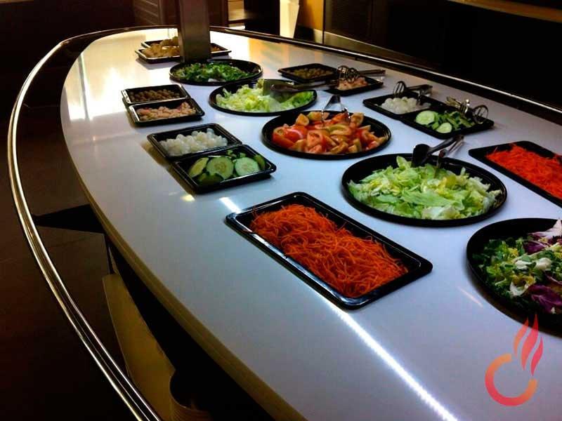 Diseñamos y fabricamos buffets a medida que se adaptan a las necesidades de cada cliente.